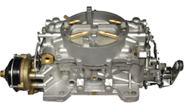 Photograph of a beautifully-restored 1962 3269S Carter AFB Carburetor, 327 300/340HP.