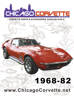 The cover of our 1968-82 Corvette Parts and Accessories catalog, featuring a classic Stingray.